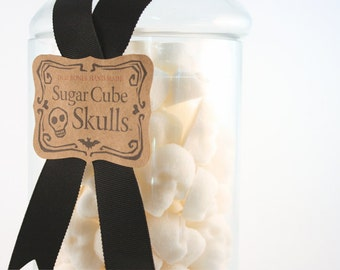Large Apothecary Jar, Sugar Cube Skulls., Nightmare Before Chrsitmas Celebration
