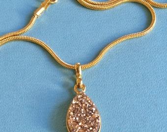 Golden Druzy Necklace