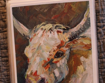 "Cow Bull Steer Print ""Wooley"" by Chris Lorenz"