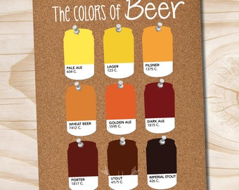 craft beer poster pantone beer cans the colors of beer printed 11x14 poster