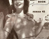 Carolina, a sweet 1940s jumper with ribbon-trim neckline - vintage knitting pattern PDF (468)