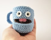 Crochet Pattern, Amigurumi Pattern, Amigrumi Doll, Coffee Mug Crochet Pattern, Coffee Mug Pattern, Crochet Coffee Mug Amigurumi Pattern,