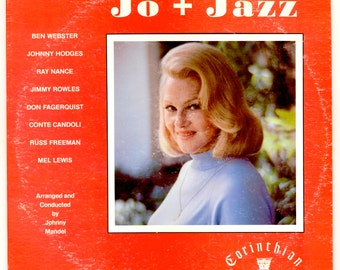 Jo Stafford , Jo + Jazz, with Johnny Hodges, Ben Webster, Ray Nance, Jimmy Rowles, Don Fagerquist. Corinthian LP Vintage Vinyl Record Album
