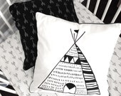 Teepee Cushion, cover only, black