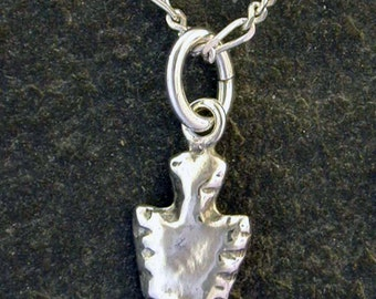 Sterling Silver Arrowhead Pendant on Sterling Silver Chain.