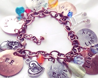 Personalized Mother / Grandma Charm Bracelet Fun & Colorful