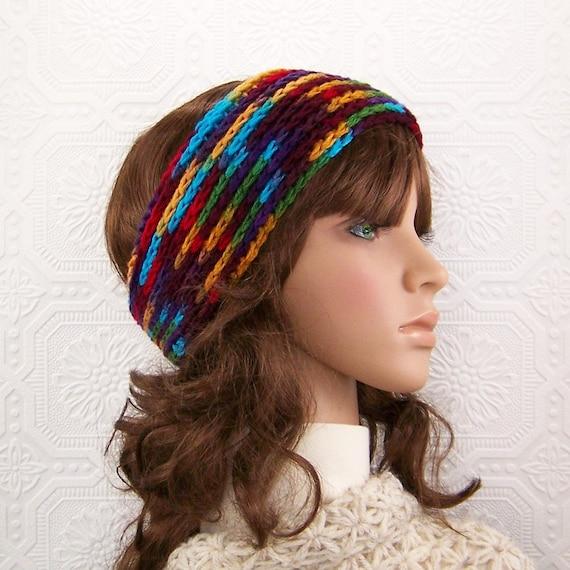 Crochet headband, headwrap, ear warmer - ski band - Winter Fashion Accessories, gift for her handmade Sandy Coastal Designs - ready to ship