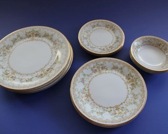 Noritake, Place Setting, China, Elegant, Wedding Dishes, Fine China, Dinner, Long Ago
