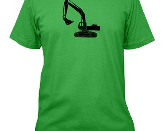 Digger / Excavator / Backhoe Shirt - Construction Mens Shirt - 3 Colors Available - Mens Cotton Shirt - Gift Friendly