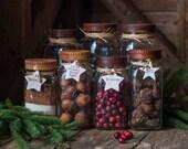 Wood Mason Jar Lids [2], Kitchen Gifts, Wood Top for Canning Jars, Teachers Gift, Storage Display, Food in Jars, Food Gifts