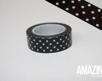 Black & White dotted washi tape - Paper Masking Tape