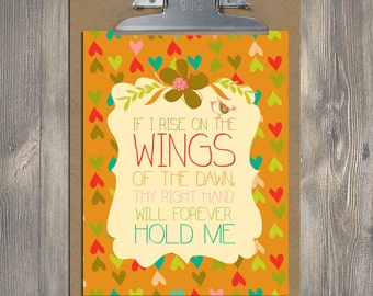 Christian Gift, Scripture art, Bountiful Blessings - Wings of the Dawn, Christian art print