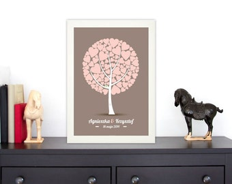 PDF Wedding Tree Guest Book - artistic poster  PDF FIle - any size - DIY