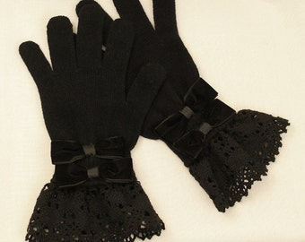 Made to Order: Black Double Bow Gloves
