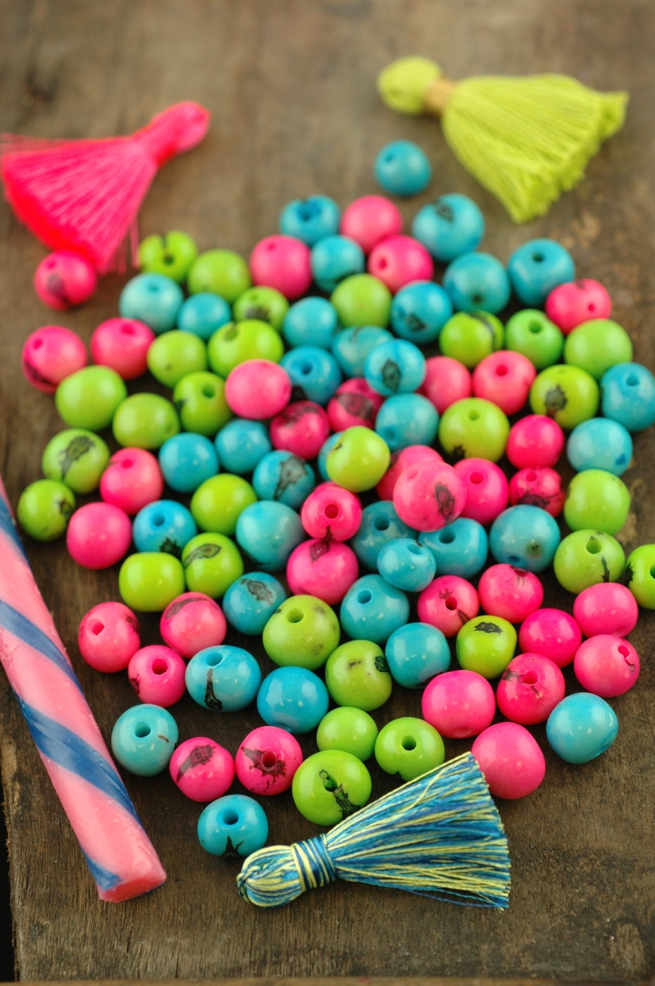 Spring fling acai beads mix real natural south american for Natural seeds for jewelry making