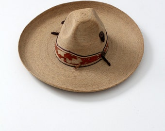 vintage sombrero, authentic Mexican hat
