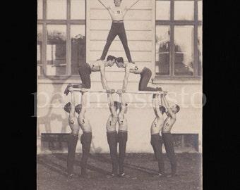 1930s Striking Photo of Human Pyramid / Group Gymnastics part A