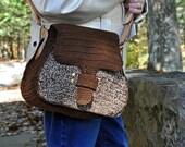Handbag, Shoulder Bag, Boho Chic, Hand tooled Leather Strap