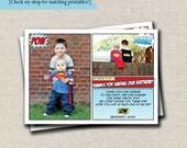 Superhero Thank You Card | Super Hero Thank You Card | Comic Book Birthday | digital printable