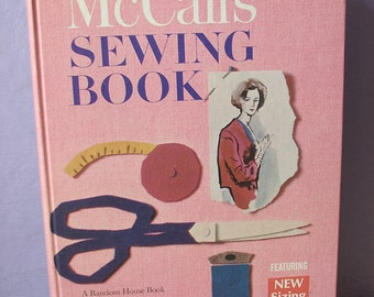 Vintage 1960's McCall's Sewing Book, 1968, Mid Century craft book, modern fashion book, Christmas Gift for mom, wedding gift for bride