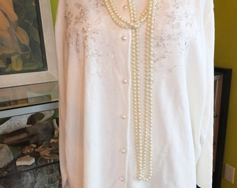 Plus sz Ivory Wedding sweater wedding dress coat jacket wrap 1950s 1920s style