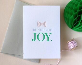 New Baby / Bundle of Joy Letterpress Card