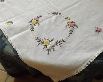 Sale Germany Serviette Doily Table Napkin Floral Designvintage