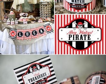 DIY Printable Custom Party Package by BluGrass Designs - Pirates