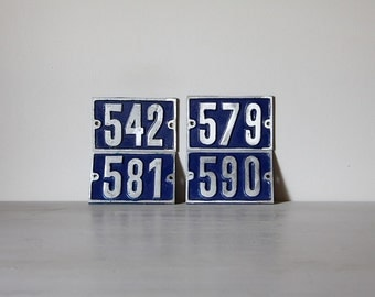 ONE Vintage French Traditional House Number Loft Living, Select your Number 542, 579, 581, 590