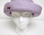Lavender Purple Hat Curled Brim Betmar Ladies Millinery