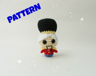 Nutcracker Pattern / Christmas Crochet Pattern / Christmas Toys / Christmas Ornament Pattern / Amigurumi Christmas Pattern / Kids Christmas