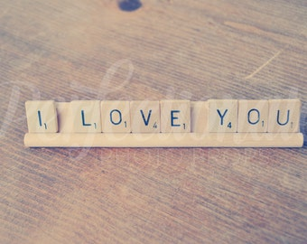 I Love You Scrabble Sign Love Scrabble Sign Love Photo Prop