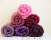 Shades of purple and pink ethereal loosely handknit newborn mohair wrap layer photography prop - choose a color
