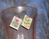 Jane Eyre and Pride and Predjudice Classic book earring set