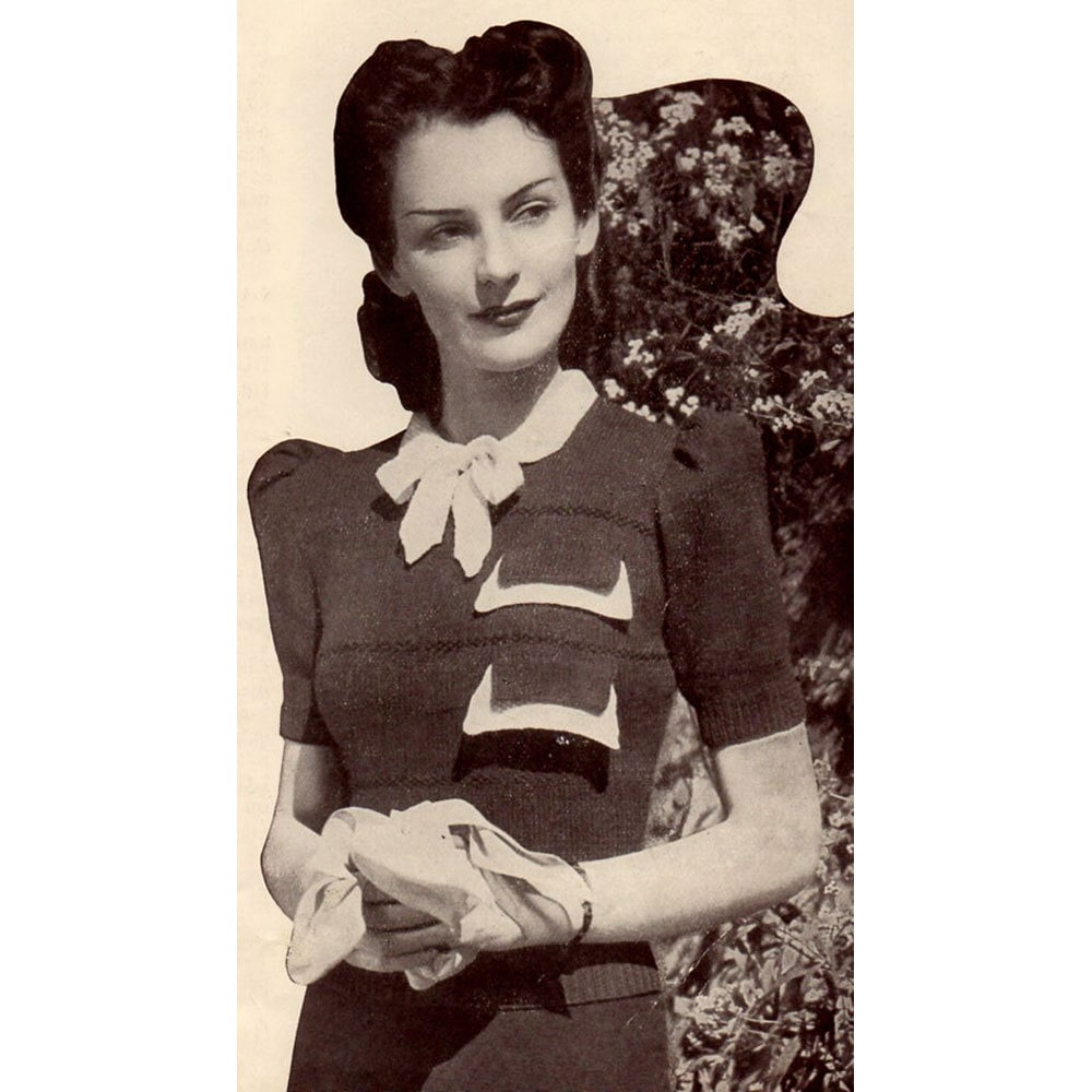Wartime Knitting Patterns : 1940s Vintage Knitting Patterns Sweaters & by BessieAndMaive