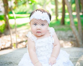 Lace flower Girl Dress - Baptism Dress - white Flower Girl Dress - Christening dress - Baby Dress - White baptism dress, Lace Girls Dress