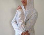 SALE - Zigzag Geometry - handmade zip hoodie