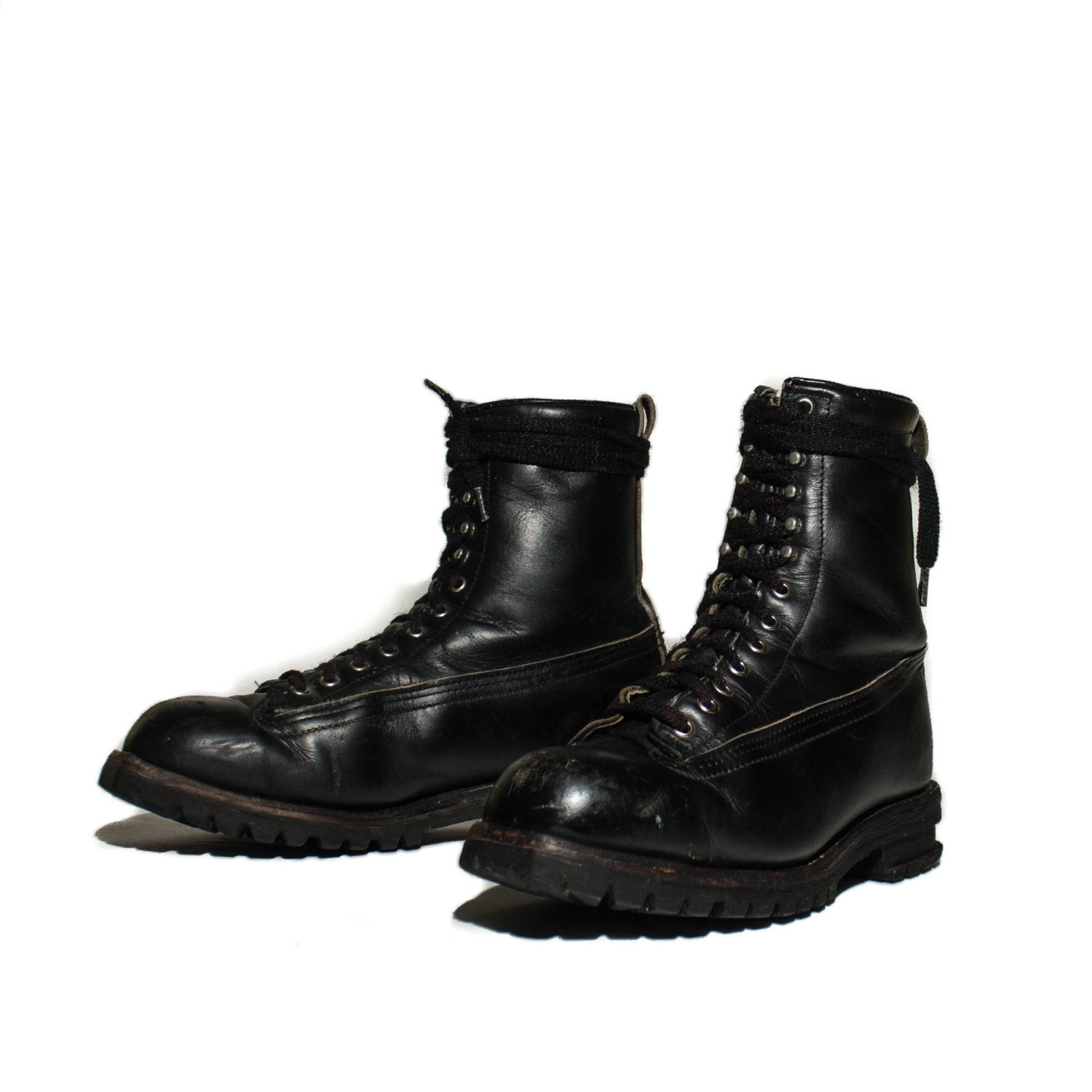 11 vintage chippewa survival boot black leather lace up