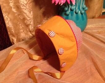 Red & Gold Checkered Bonnet