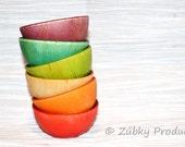 SALE - Toddler Waldorf Rainbow Sorting Bowls by Zúbky - Waldorf Montessori Game for Children