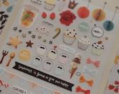 Sweet Cupcake Sticker (1 sheet)