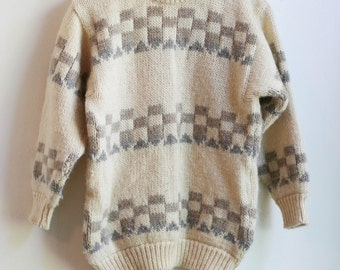 Irish Knit Wool Sweater - S/M