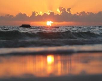 Sunrise Photography, Ocean, Beach Cottage Decor