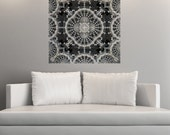 Symmetrical Wall Decal Sticker Art - Old Lace by Lyle Hatch