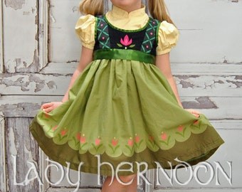 Anna's Build a Snowman Dress - Sizes 2T, 3T, 4T, 5, 6, 7, 8 and 10