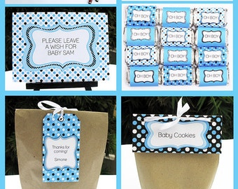 Editable Baby Shower Party Invitations & Decorations - full Printable Package - INSTANT DOWNLOAD with EDITABLE text - you personalize
