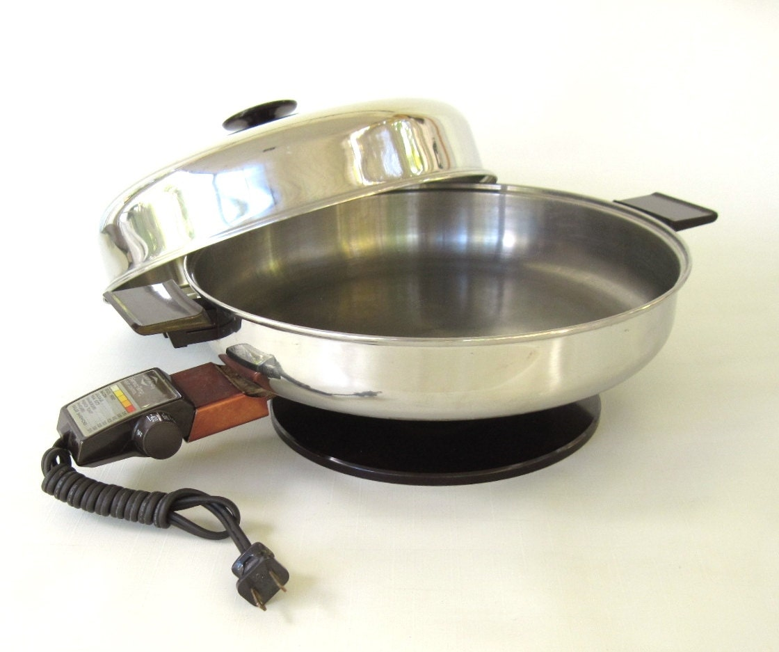 West Bend Electric Skillet 73010 Frying Pan Stainless Steel