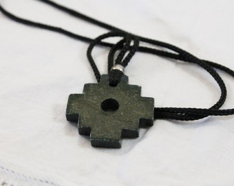 Interesting Egyptian Style Carved Stone Necklace