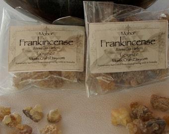 Mohor Resin Incense, 1oz Frankincense Sustainably Wild Harvested In Somalia, Boswellia carterii