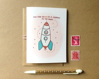 Journey to the Moon - Valentine Card